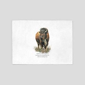 Bison Buffalo Animal Totem Spirit Guide Art 5'x7'A