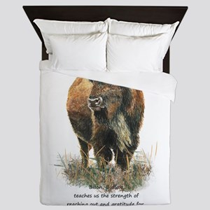 Bison Buffalo Animal Totem Spirit Guide Art Queen