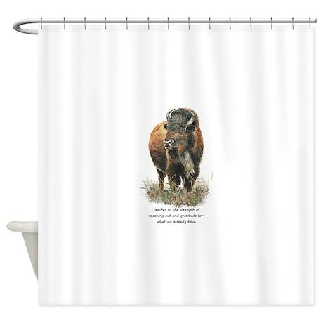 Bison Buffalo Animal Totem Spirit Guide Art Shower by barkettc