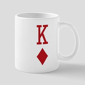 King of Diamonds Red Playing Card Mugs