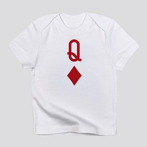 Queen of Diamonds Red Playing Card Infant T-Shirt