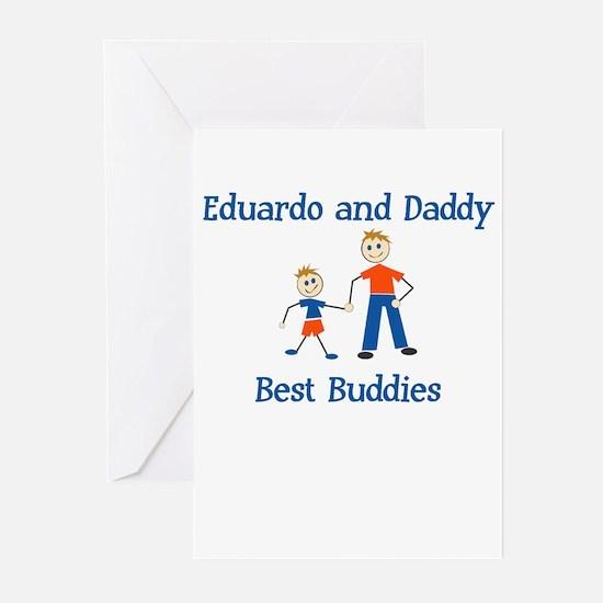 Eduardo & Daddy - Best Buddie Greeting Cards (Pack
