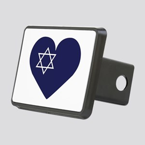 Blue Hart with Magen David Hitch Cover