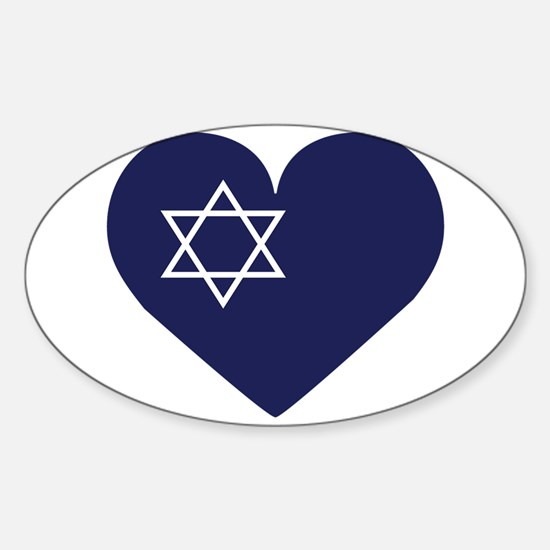 Blue Hart with Magen David Decal