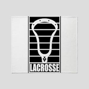 Lacrosse Head Lines Throw Blanket