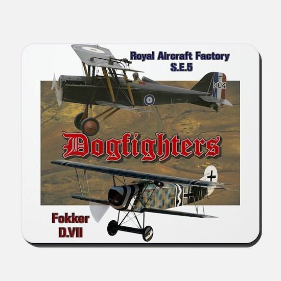 Dogfighters: SE5 vs Fokker D.VII Mousepad