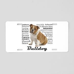 Bulldog Traits Aluminum License Plate