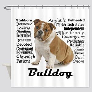 Bulldog Traits Shower Curtain