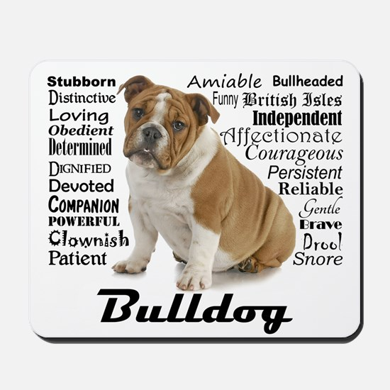 Bulldog Traits Mousepad