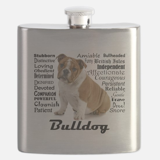 Bulldog Traits Flask