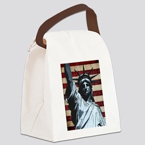 Liberty Flag Canvas Lunch Bag