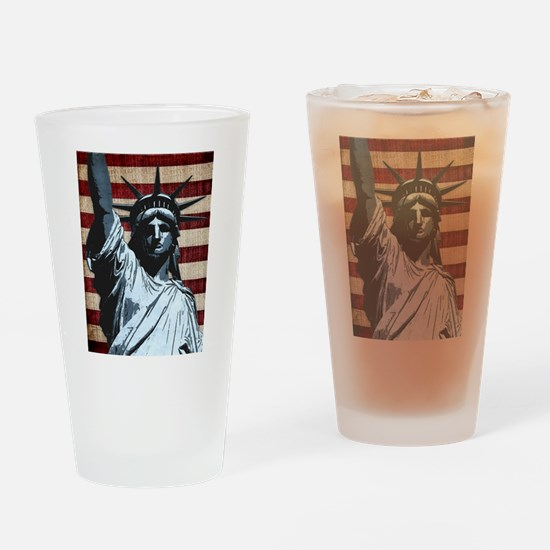 Liberty Flag Drinking Glass