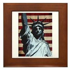 Liberty Flag Framed Tile