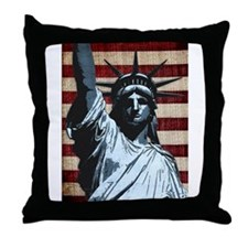 Liberty Flag Throw Pillow
