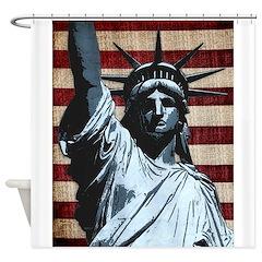 Liberty Flag Shower Curtain