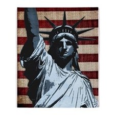 Liberty Flag Throw Blanket