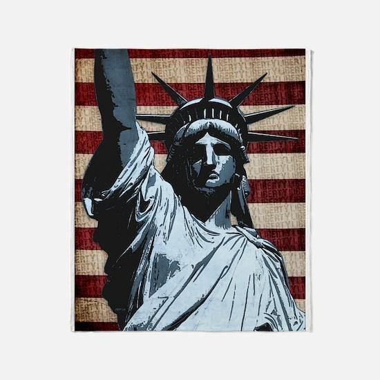 Liberty Flag Throw Blanket