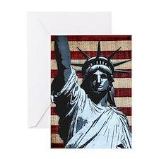 Liberty Flag Greeting Cards