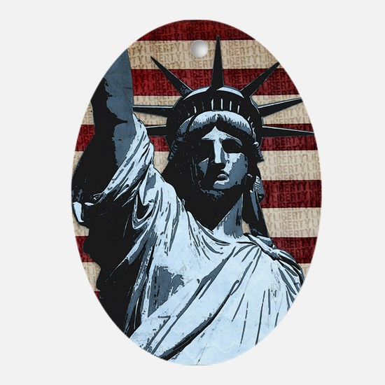 Liberty Flag Ornament (Oval)