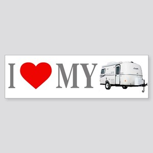 I Love My Casita (Red Heart) Bumper Sticker