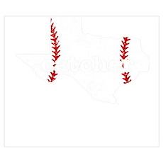 Fastpitch Softball Catcher Baseball Shirt Wall Art Poster