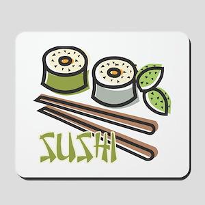 Cool Artsy Sushi Design Mousepad