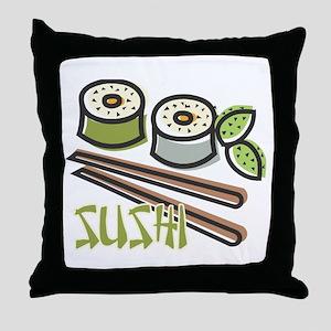 Cool Artsy Sushi Design Throw Pillow