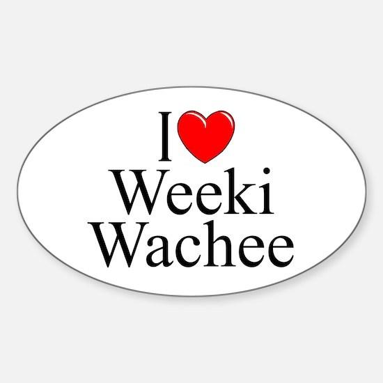 """I Love Weeki Wachee"" Oval Decal"