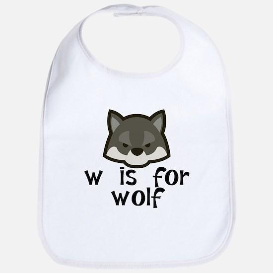 W Is For Wolf Bib