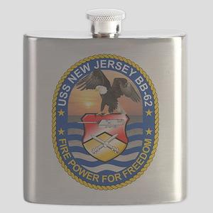 USS New Jersey BB-62 Flask