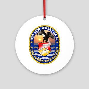 Uss New Jersey Bb-62 Ornament (round)