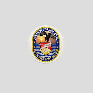 Uss New Jersey Bb-62 Mini Button