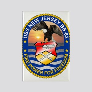 Uss New Jersey Bb-62 Magnets
