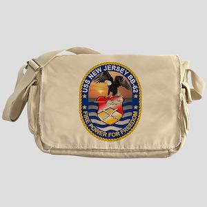 USS New Jersey BB-62 Messenger Bag