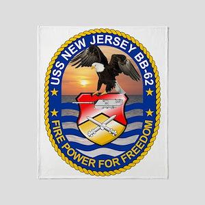 Uss New Jersey Bb-62 Throw Blanket
