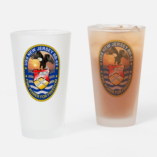 USS New Jersey BB-62 Drinking Glass