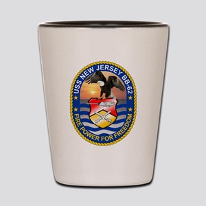 USS New Jersey BB-62 Shot Glass