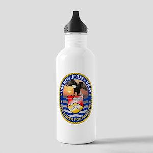 USS New Jersey BB-62 Water Bottle