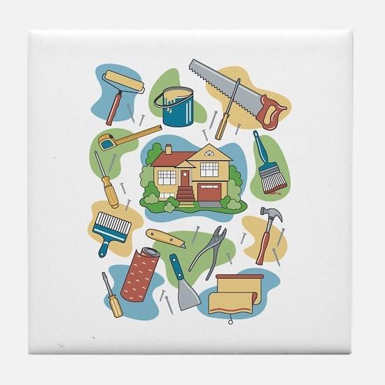 Funny House Tile Coaster