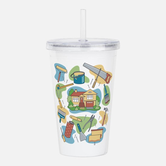 Cute Remodeling Acrylic Double-wall Tumbler