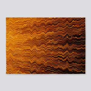 Colorful Abstract light wave lines 5'x7'Area Rug