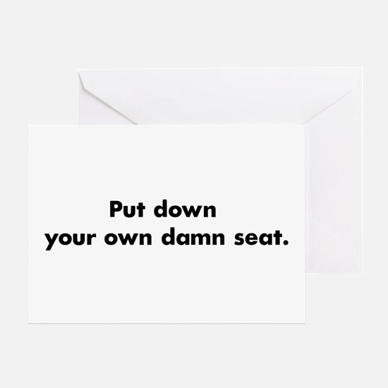 Bathroom toilet etiquette icbe stationery cards invitations damn seat greeting card m4hsunfo