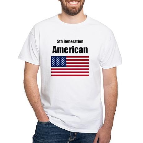 5th Generation American White T-Shirt