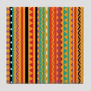 Aztec Patterns Tile Coaster
