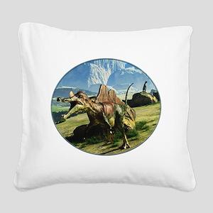 Ichthyovenator Dinosaur Square Canvas Pillow