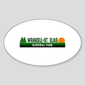 Wrangell-St. Elias National P Oval Sticker