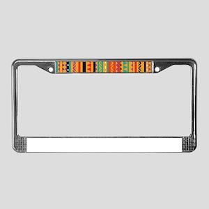 Aztec Patterns License Plate Frame