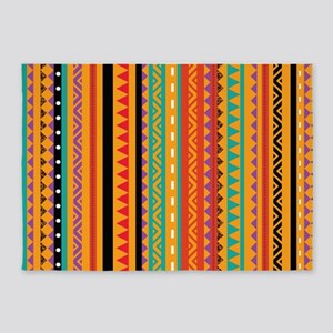 Aztec Patterns 5'x7'Area Rug
