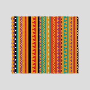 Aztec Patterns Throw Blanket