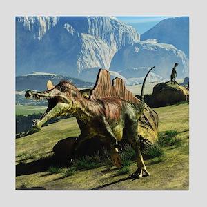 Ichthyovenator Dinosaur Tile Coaster